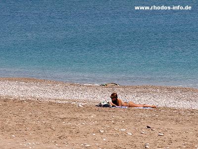 Der Strand Von Afandou Auf Rhodos